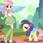 Игра Флаттершай пони одевалка