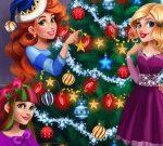 Игра Девушки наряжают рождественскую ёлку