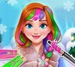 Игра Шикарные Зимние Причёски для Анны