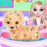 Игра Малышка Эльза: Лечение щенка / Baby Elsa Puppy Surgery
