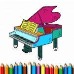 Игра Раскраска: Фортепиано
