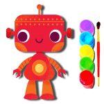 Игра Книжка раскраска робота