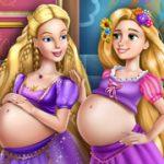 Игра Беременные подруги / Goldie Princesses Pregnant