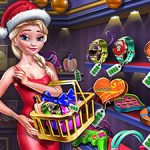 Игра Ледяная королева покупает рождественские подарки