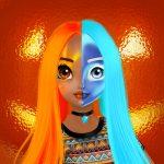 Игра Учебник по двойному макияжу Принцессы на Хэллоуин