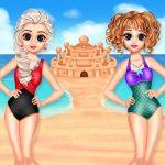 Игра Принцессы Лето Замок из песка