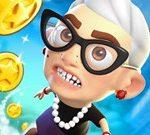 Игра Злая бабка: Прыжок, вверх и вперёд