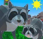 Игра Приключения Енота: Городской Симулятор 3Д / Raccoon Adventure: City Simulator 3D