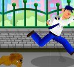 Игра Убеги от злой собаки